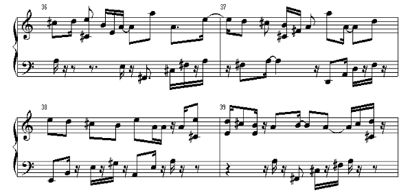 Maniac has been trying to write music here is a sle of that mess